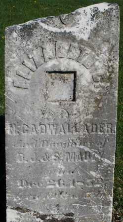 GADWALLADER, ELIZABETH - Preble County, Ohio | ELIZABETH GADWALLADER - Ohio Gravestone Photos