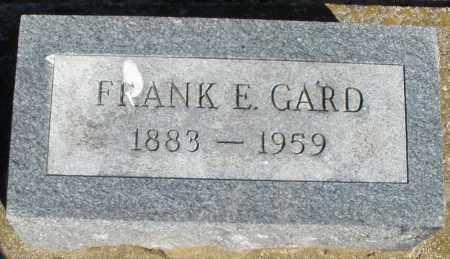GARD, FRANK E. - Preble County, Ohio | FRANK E. GARD - Ohio Gravestone Photos