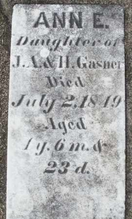 GASNER, ANN E. - Preble County, Ohio | ANN E. GASNER - Ohio Gravestone Photos