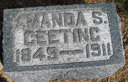 GEETING, AMANDA S. - Preble County, Ohio | AMANDA S. GEETING - Ohio Gravestone Photos