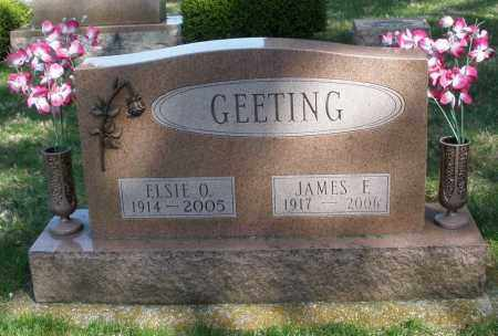 GEETING, JAMES F. - Preble County, Ohio | JAMES F. GEETING - Ohio Gravestone Photos