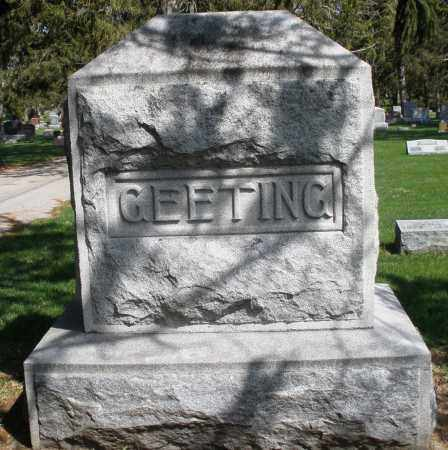 GEETING, MONUMENT - Preble County, Ohio | MONUMENT GEETING - Ohio Gravestone Photos