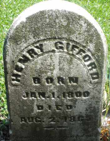 GIFFORD, HENRY - Preble County, Ohio | HENRY GIFFORD - Ohio Gravestone Photos