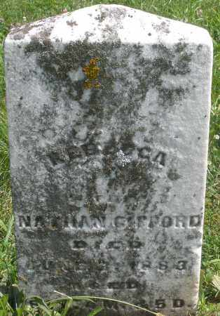 GIFFORD, REBECCA - Preble County, Ohio | REBECCA GIFFORD - Ohio Gravestone Photos