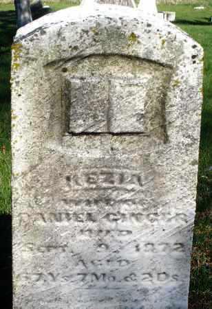 GINGER, KEZIA - Preble County, Ohio | KEZIA GINGER - Ohio Gravestone Photos