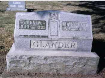 GLANDER, JOHN W. - Preble County, Ohio | JOHN W. GLANDER - Ohio Gravestone Photos