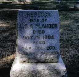 GLANDER, REBECCA - Preble County, Ohio | REBECCA GLANDER - Ohio Gravestone Photos