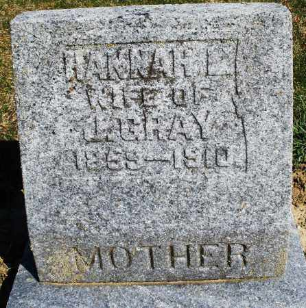 GRAY, HANNAH - Preble County, Ohio | HANNAH GRAY - Ohio Gravestone Photos