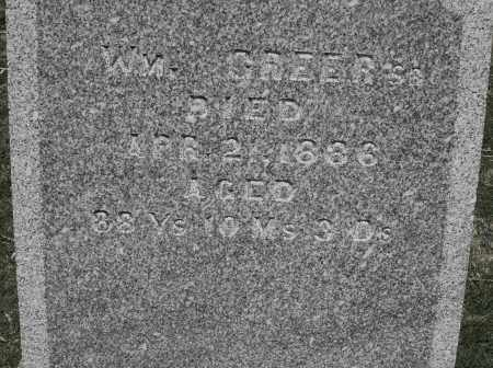GREER, WILLIAM SR. - Preble County, Ohio   WILLIAM SR. GREER - Ohio Gravestone Photos