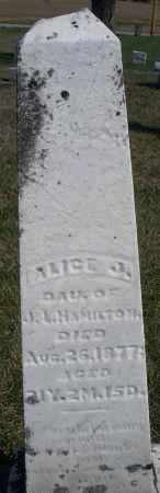 HAMILTON, ALICE J. - Preble County, Ohio | ALICE J. HAMILTON - Ohio Gravestone Photos
