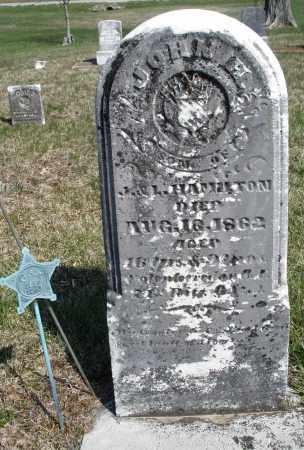 HAMILTON, JOHN H. - Preble County, Ohio | JOHN H. HAMILTON - Ohio Gravestone Photos