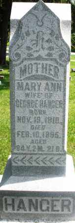 HANGER, MARY ANN - Preble County, Ohio | MARY ANN HANGER - Ohio Gravestone Photos