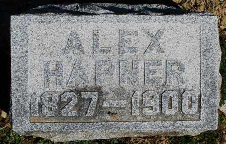 HAPNER, ALEX - Preble County, Ohio | ALEX HAPNER - Ohio Gravestone Photos