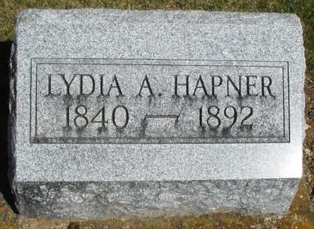 HAPNER, LYDIA A. - Preble County, Ohio | LYDIA A. HAPNER - Ohio Gravestone Photos