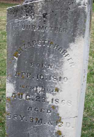 HARPER, ELIZABETH - Preble County, Ohio | ELIZABETH HARPER - Ohio Gravestone Photos