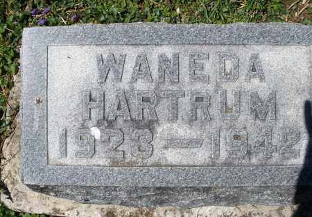 HARTRUM, WANEDA - Preble County, Ohio | WANEDA HARTRUM - Ohio Gravestone Photos
