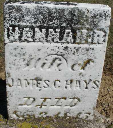 HAYS, HANNAH R. - Preble County, Ohio | HANNAH R. HAYS - Ohio Gravestone Photos