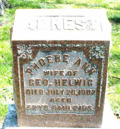 HELWIG, PHOEBE ANN - Preble County, Ohio | PHOEBE ANN HELWIG - Ohio Gravestone Photos