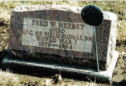 HERBST, FRED W. - Preble County, Ohio | FRED W. HERBST - Ohio Gravestone Photos
