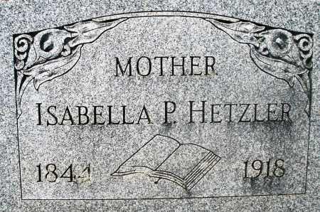 HETZLER, ISABELLA P. - Preble County, Ohio | ISABELLA P. HETZLER - Ohio Gravestone Photos
