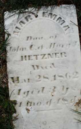 HETZNER, MARY EMMA - Preble County, Ohio   MARY EMMA HETZNER - Ohio Gravestone Photos