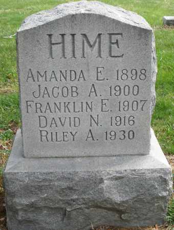 HIME, FRANKLIN E. - Preble County, Ohio | FRANKLIN E. HIME - Ohio Gravestone Photos