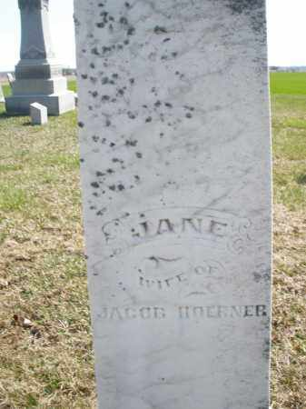 HOERNER, JANE - Preble County, Ohio | JANE HOERNER - Ohio Gravestone Photos