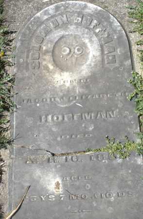 HOFFMAN, SOLOMON - Preble County, Ohio   SOLOMON HOFFMAN - Ohio Gravestone Photos