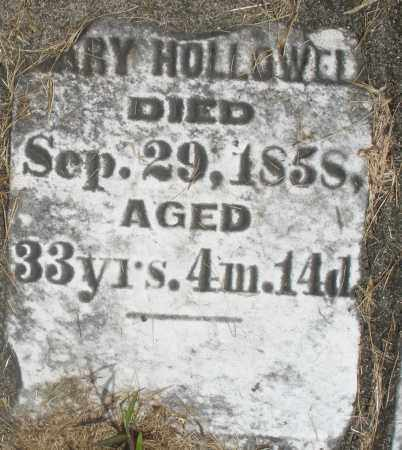 HOLLOWELL, MARY - Preble County, Ohio | MARY HOLLOWELL - Ohio Gravestone Photos