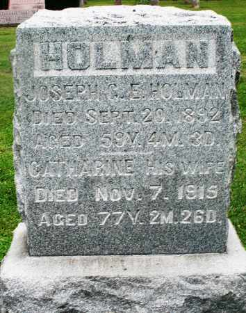 HOLMAN, JOSEPH - Preble County, Ohio | JOSEPH HOLMAN - Ohio Gravestone Photos