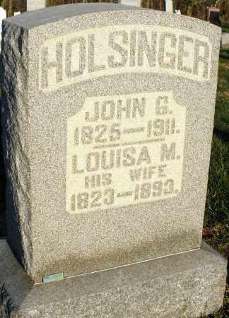 HOLSINGER, JOHN G. - Preble County, Ohio | JOHN G. HOLSINGER - Ohio Gravestone Photos