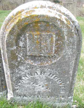 HOOVER, SUSANNAH - Preble County, Ohio | SUSANNAH HOOVER - Ohio Gravestone Photos