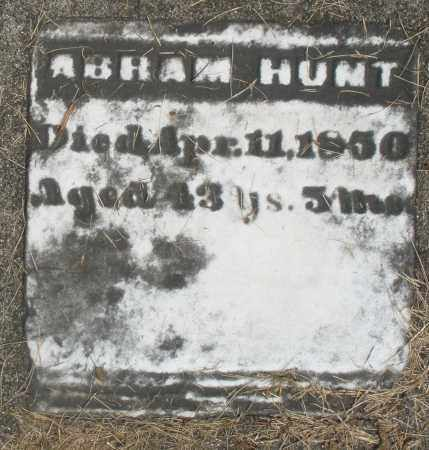 HUNT, ABRAM - Preble County, Ohio | ABRAM HUNT - Ohio Gravestone Photos