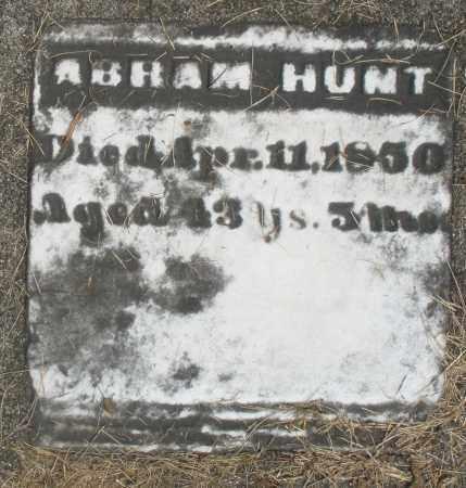 HUNT, ABRAM - Preble County, Ohio | ABRAM HUNT - Ohio Gravestone Photos