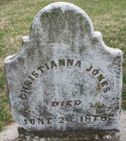 JONES, CHRISTIANNA - Preble County, Ohio | CHRISTIANNA JONES - Ohio Gravestone Photos