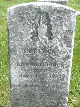 JONES, REBECCA - Preble County, Ohio | REBECCA JONES - Ohio Gravestone Photos