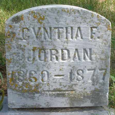 JORDAN, CYNTHA F. - Preble County, Ohio | CYNTHA F. JORDAN - Ohio Gravestone Photos