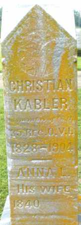 KABLER, CHRISTIAN - Preble County, Ohio | CHRISTIAN KABLER - Ohio Gravestone Photos