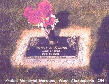 KARNS, RUTH - Preble County, Ohio | RUTH KARNS - Ohio Gravestone Photos