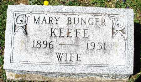 BUNGER KEEFE, MARY - Preble County, Ohio | MARY BUNGER KEEFE - Ohio Gravestone Photos