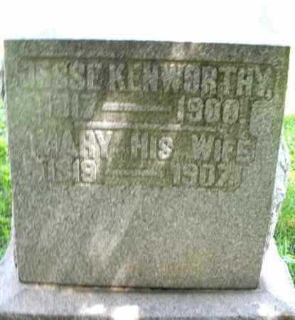 KENWORTHY, MARY - Preble County, Ohio | MARY KENWORTHY - Ohio Gravestone Photos