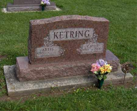 KETRING, ARTIS - Preble County, Ohio | ARTIS KETRING - Ohio Gravestone Photos