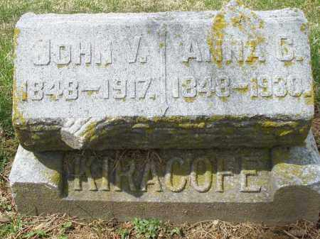 KIRACOFE, JOHN V. - Preble County, Ohio | JOHN V. KIRACOFE - Ohio Gravestone Photos