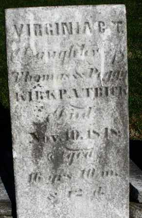 KIRKPATRICK, VIRGINIA - Preble County, Ohio | VIRGINIA KIRKPATRICK - Ohio Gravestone Photos