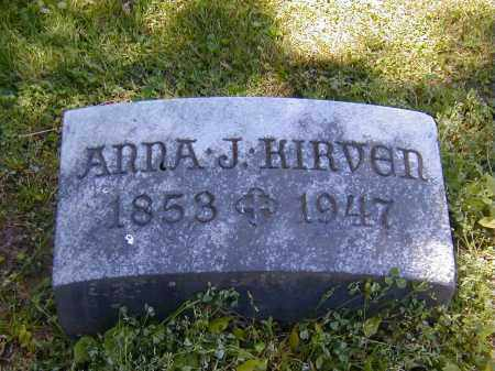 KIRVEN, ANNA J. - Preble County, Ohio | ANNA J. KIRVEN - Ohio Gravestone Photos