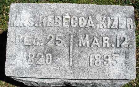 KIZER, REBECCA - Preble County, Ohio   REBECCA KIZER - Ohio Gravestone Photos