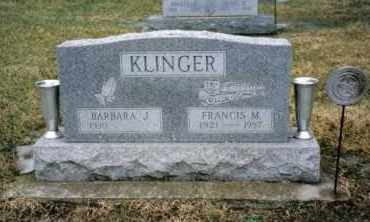 KLINGER, BARBARA J. - Preble County, Ohio | BARBARA J. KLINGER - Ohio Gravestone Photos