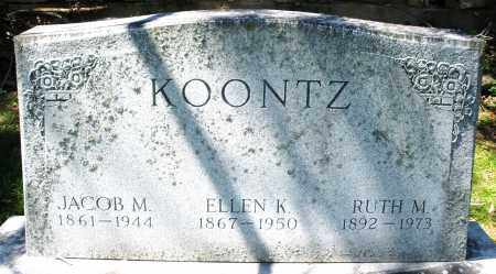 KOONTZ, JACOB M. - Preble County, Ohio | JACOB M. KOONTZ - Ohio Gravestone Photos