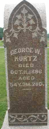 KURTZ, GEORGE W. - Preble County, Ohio | GEORGE W. KURTZ - Ohio Gravestone Photos
