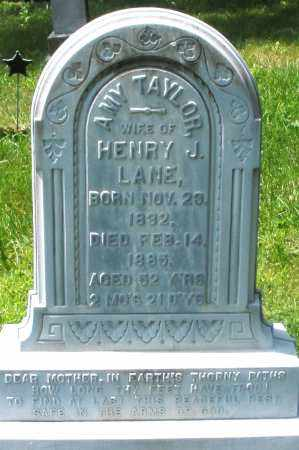 LANE, AMY - Preble County, Ohio | AMY LANE - Ohio Gravestone Photos